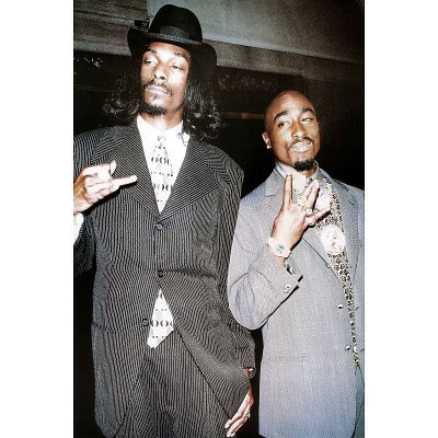 Tupac   Snoop Dogg  In Suits  Music Poster Print