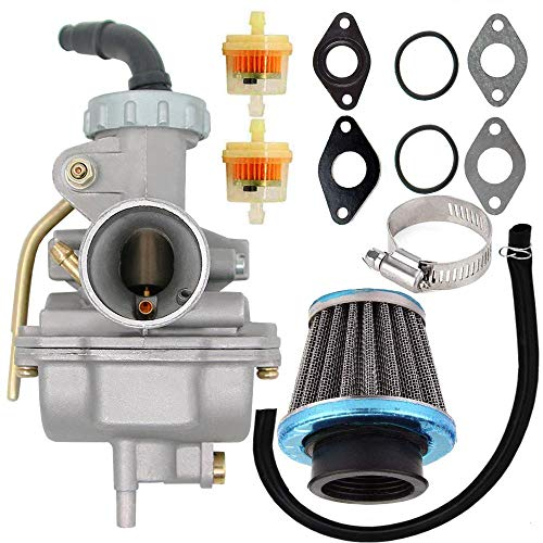 PZ20 Carburetor for Kazuma Baja 50cc 70cc 90cc 110cc 125cc TaoTao 110B NST SunL Chinese Quad 4 Stroke ATV 4 Wheeler Go Kart Dirt Bike Honda CRF50F XL75 CRF80F XR50R with Air Fuel Filter (Ssr 110 Carburetor)
