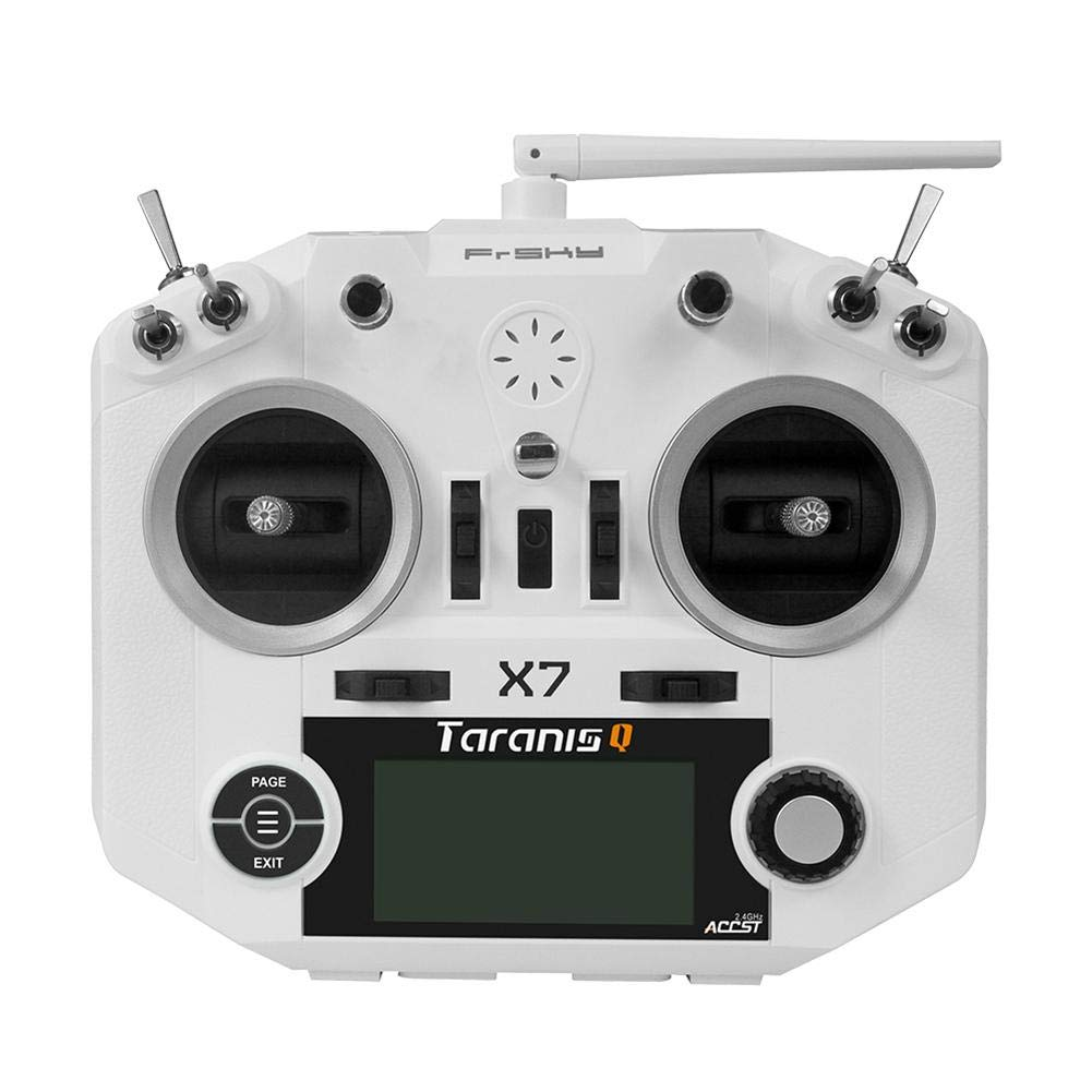 StageOnline Transmisor de RC FrSky Taranis Q X7 Transmitter 16CH ACCST 2.4GHz RC Transmitter Compatible con Frsky Receiver para FPV Racing Drone Quadcopter