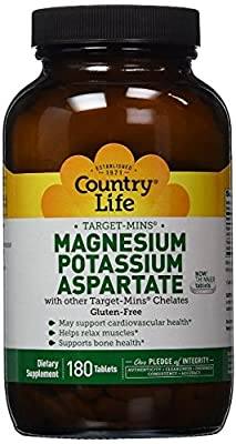 Country Life Target Mins Mag/potassium/aspartate, 180-Count