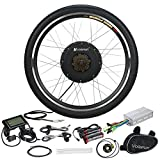 Voilamart 26'' Rear Wheel Electric Bicycle Conversion Kit, 48V 1000W E-bike Hub Motor with LCD Display w/ Intelligent Controller 750W Power Limited Secret Wire for Road Bike