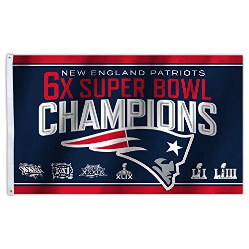 Fremont Die NFL New England Patriots Super Bowl LIII Champion 3X5 Flag