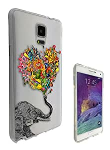 c0079 - Funky Aztec elephant Floral Trunk Design For All Samsung Galaxy Note 5 Fashion Trend CASE Gel Rubber Silicone Protective Case Clear Cover