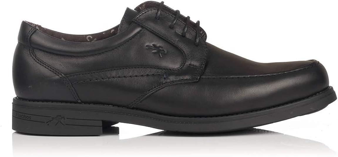 TALLA 39 EU. FLUCHOS 9300 Zapato Cordon Piel Tacon Hombre