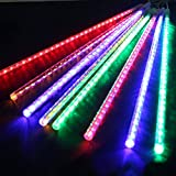 AndkYwd 50cm 240 LED Meteor Shower Rain Lights Waterproof 8 Tubes String for Xmas (multicolor)