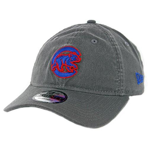 New Era 920 Chicago Cubs Core Classic Crawl Strapback Hat (Graphite) MLB Cap