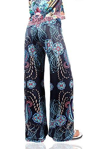 Floreale Taille Donna Giovane Moda 8 Grazioso Stile Colour Vita Eleganti Larghi Pants Lunga Pantaloni Nahen Primaverile Estivi Baggy Pantalone Libero Elastica Stampate Tempo Modern zwdnfPq