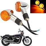 INNOGLOW Motorcycle Turn Signals 2PCS Universal Panhead Mini Bullet Blinker Indicator Lamps for Aprilia BMW Ducati Harley Honda Kawasaki Suzuki Yamaha