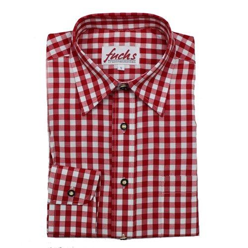 Trachtenhemd von Fuchs rot kariert (L)