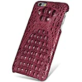 UU&T Handcrafted Crocodile Leather Protective Case for Iphone6 Plus / 6s Plus (5.5inch)[Elite] (Classic Red: Head Leather)