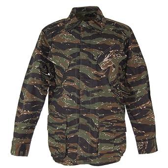 mfh bdu  MFH BDU Vietnam Ripstop Combat Shirt Tiger Stripe size XXL: Amazon ...