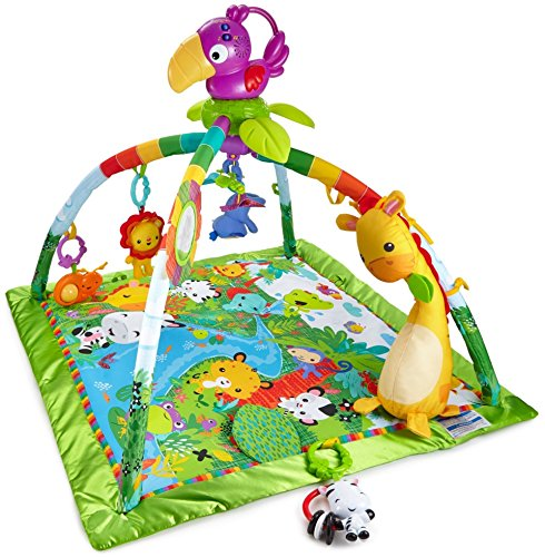 Fisher-Price Rainforest Music & Lights Deluxe Gym [Amazon Exclusive] (Fisher Newborn Price Rattle)