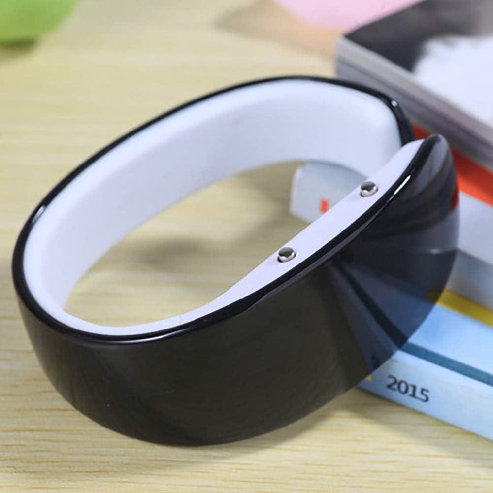 Yunnuopromi Montre de sport LED à affichage numérique en silicone pour homme/femme Rouge Noir