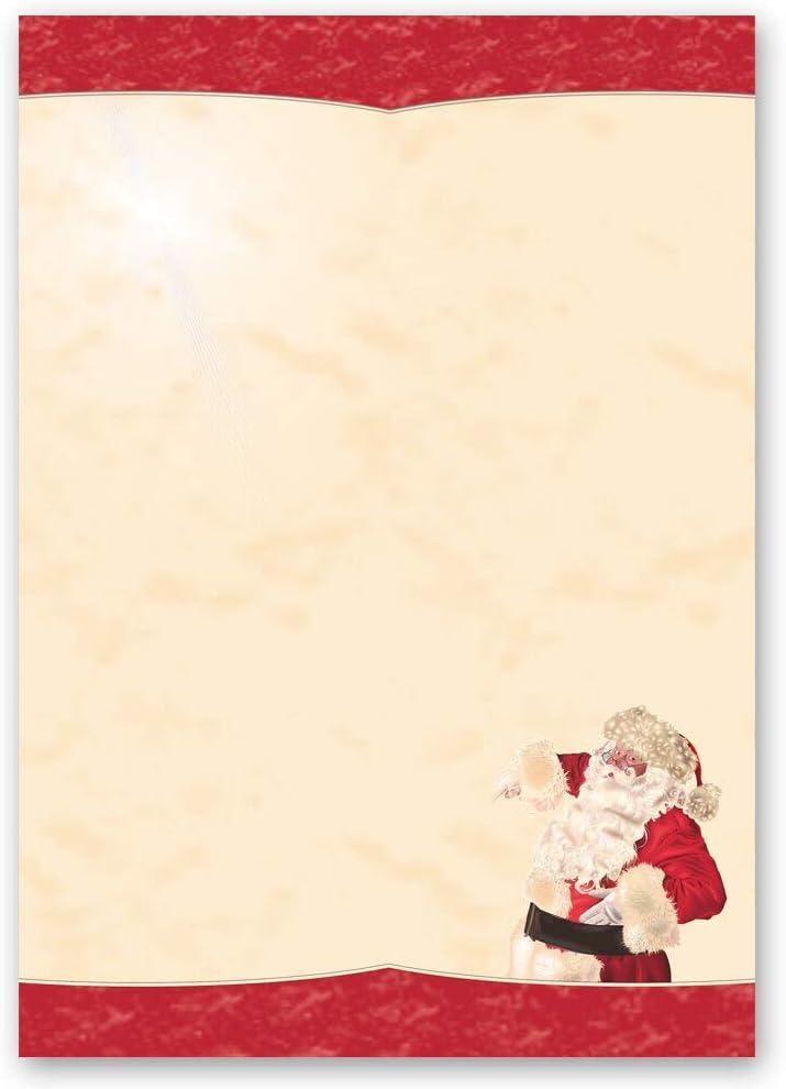 Paper-Media DIN A4 Format 100 Blatt Briefpapier Weihnachten LEBKUCHENZEIT