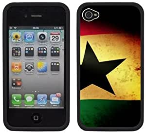 Ghana Flag Handmade iPhone 4 4S Black Hard Plastic Case by Maris's Diary