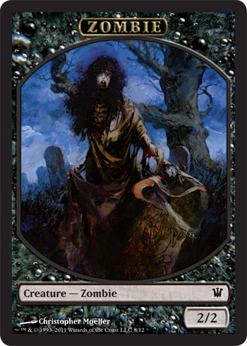 - Magic: the Gathering - Zombie Token B - Innistrad