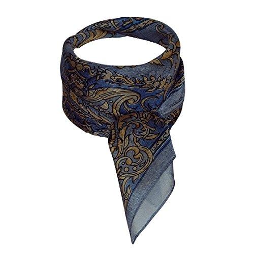 Chapeau-tendance - Foulard carré de soie gris Zadien - - Femme