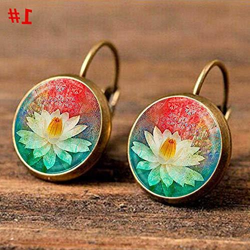 Monowi Elegant Round Stud Ear Vintage Women Girls Lady Crystal Flower Hoop Earrings | Model ERRNGS - 4588 |