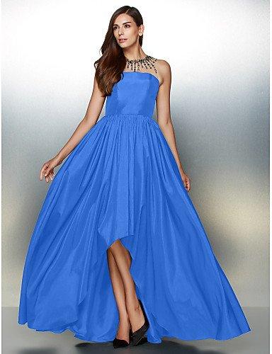 De Vestido Crystal Cuello Blue Tafetán Prom Joya De Asimétrica amp;OB Detallando De Noche HY Formal Con Ocean Una Línea tvqw0Zx