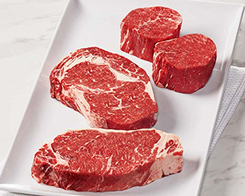 12 Oz New York Strips (Kansas City Steaks KC's Prime Sampler, 2 (6 oz.) Filet Mignon, 2 (10 oz.) Boneless Ribeye Steak, 2 (12 oz) Strip Steaks)