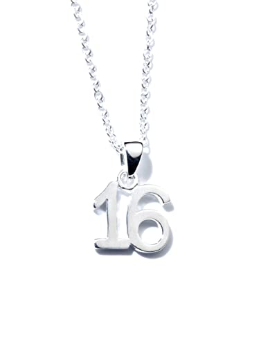 Jo for girls sterling silver 16 number pendant on 405cm silver jo for girls sterling silver 16 number pendant on 405cm silver chain aloadofball Image collections