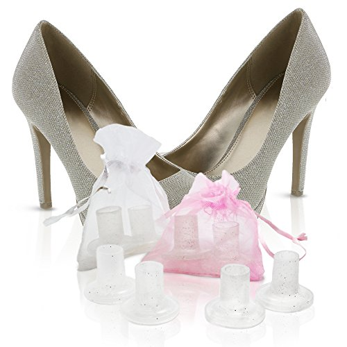 Wowly High Heel Protectors for Shoes - Pack of 10 Heel Savers (Large Size)