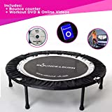 Maximus Life Bounce & Burn Foldable Indoor Mini Trampoline Rebounder for Adults. Fun Way to Lose Weight and get FIT! Includes Rebounding Workout DVD