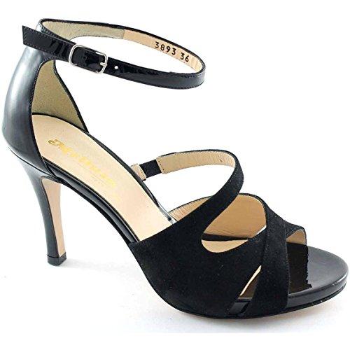 Tacco Sandalo 90 Elegante Con Melluso Nero Donna Morena S810 wx7SFq