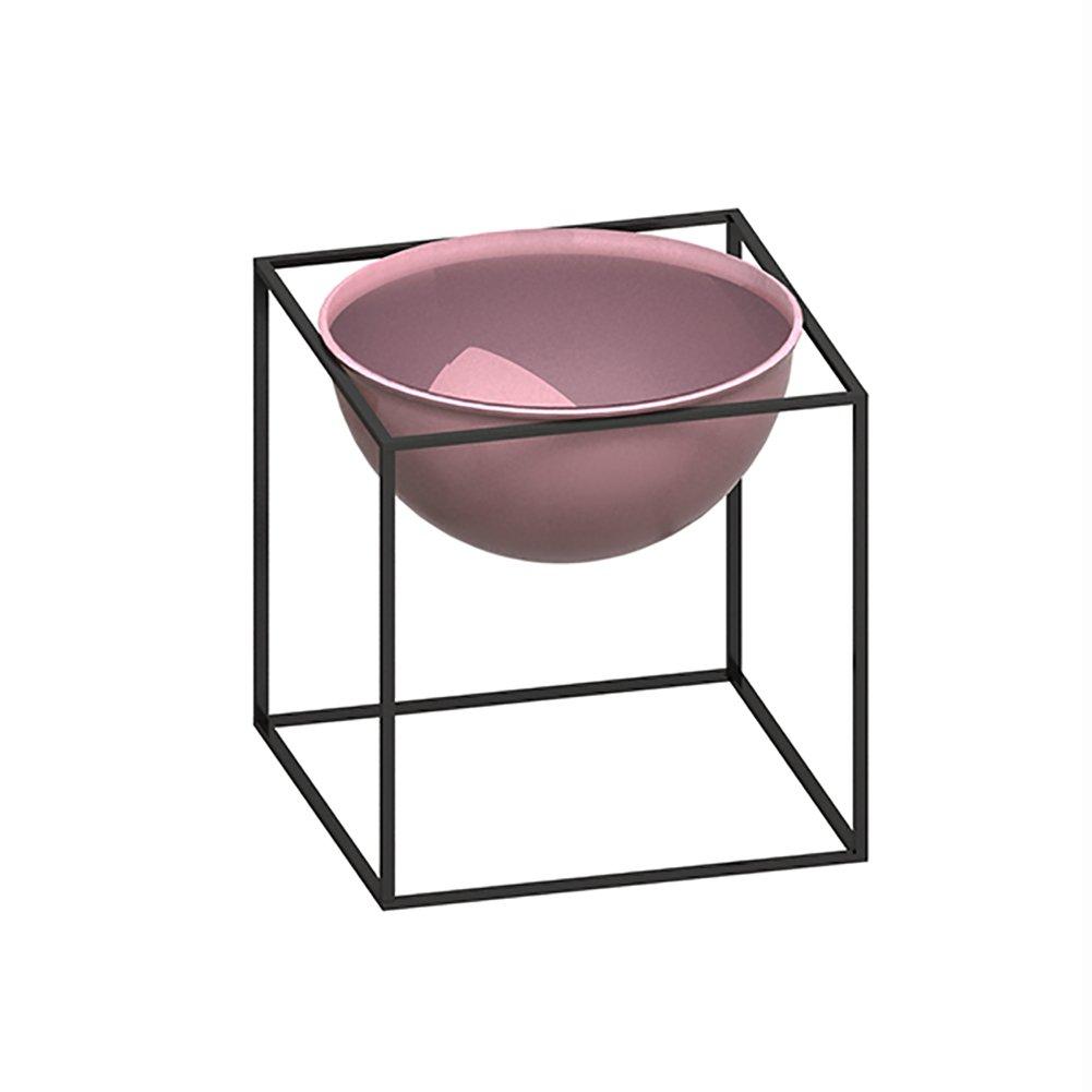 フラワースタンド 室内フラワースタンドバルコニーアイロン床置きスタンドリビングルーム全身サプリメントグリーンフラワープラントディスプレイシェルフ 園芸ラック (色 : L- pink) B07DC4H1RS L- pink L pink