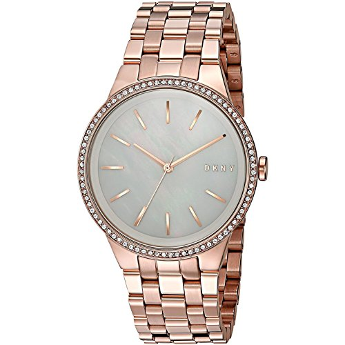 Dkny Gold Watch (DKNY Women's 'Park Slope' Quartz Stainless Steel Casual Watch, Color:Rose Gold-Toned (Model: NY2581))