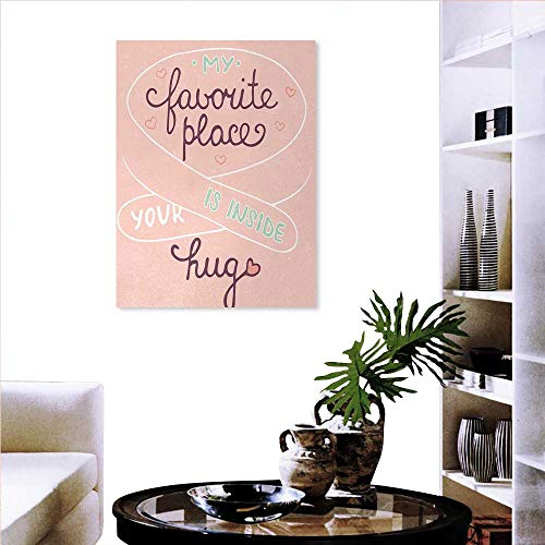 Wall Stickers Your Hug is My Favorite Place Quote a Soft Color Palette Romantic Pattern Landscape Wall Stickers 32