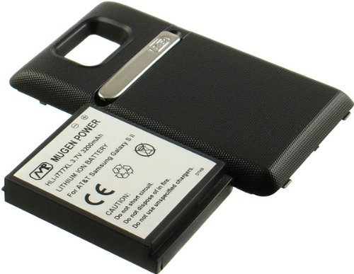 NEW MUGEN 3200mAh XL EXTENDED BATTERY + DOOR FOR ATT SAMSUNG GALAXY-S II 4G i777 by Mugen Power