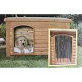 "Outback Dog House Door In Clear Size: Medium / Large (25"" X 14.5"") by Precision Pet"