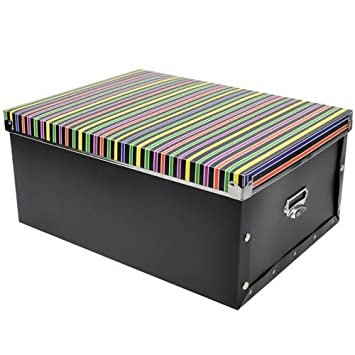 Superbe SPM Large Metal Edge PP Lid Storage Box Sorting Box Black Color Bar