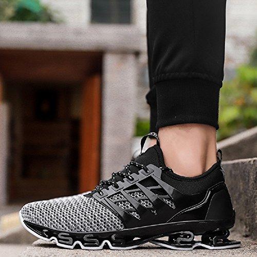 39 Traspirante Running Da Scarpe Grigio Nero 44 Sportive Uomo Sneakers Neoker Basse W0zF4wqB0R