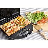 Vinteky® 700W Appareil 3 en 1 croque-monsieur/Gauffre, Grille-pain 3 plaque Machine à sandwich multifonctions en acier inoxydable