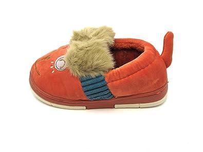 e09a8a46a4c37f Tante Tina - Children s Slippers in Dog Motif - Brick Red - Size UK 4.5 (