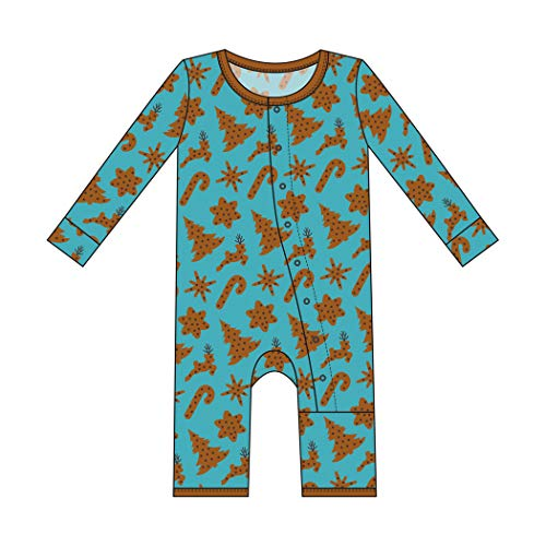 - Kickee Pants Little Boys and Girls Holiday Print Coverall with Snaps - Christmas Cookies, 3-6 Months