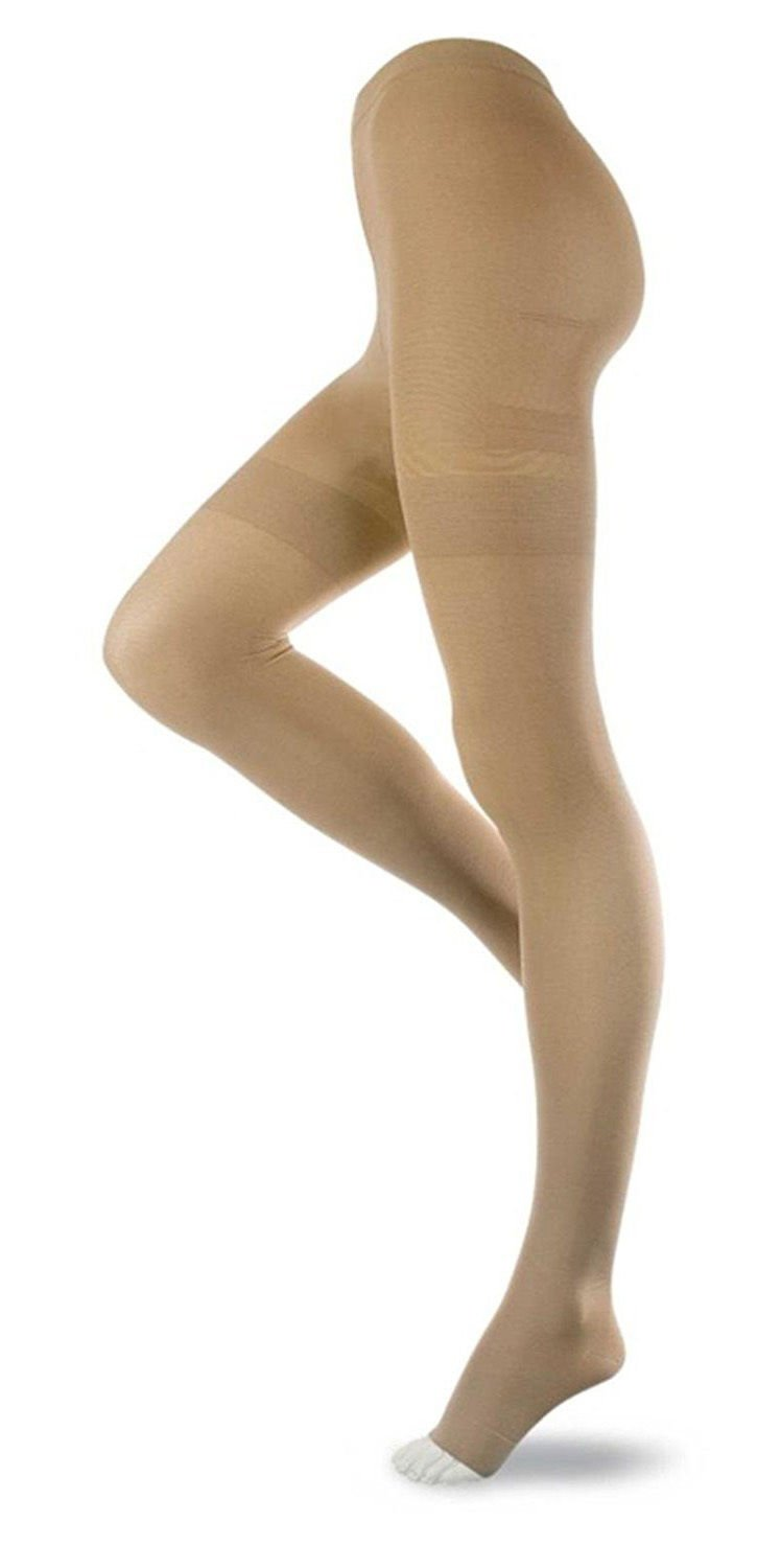 JOBST Relief 20-30 Open Toe Beige Compression Pantyhose, Small