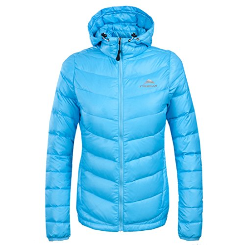 Puffer Outdoor Ultralight Waterproof CIKRILAN Lightweight Women's Jacket Blue Hooded Winter Windproof Jacket Coat Down Duck qwPPtgFx