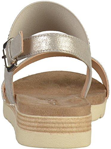 Caprice Damen 28604 Slingback Sandalen Silber