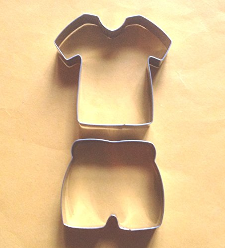 Lawman Shirt (LAWMAN T-shirt Pants Cookie Cutter Sport Wear Fondant Biscuiy Fruit cutter Mold 2 pcsset)