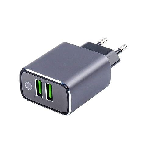 FHHL Adaptador de Enchufe USB Cargador de Viaje 3.1A / 5V ...