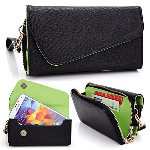 Kroo Urban Wallet Black/Green Universal fit for Samsung G...