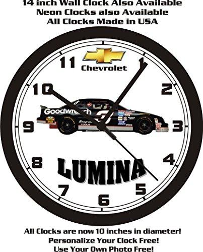 CHEVROLET LUMINA STOCK CAR WALL CLOCK-FREE USA SHIP-Choose 1 of 2