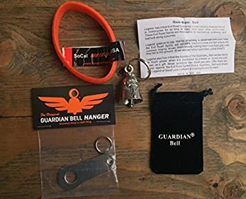 Guardian Bell Guitar Complete Motorcycle KIT W//Hanger /& Wristband