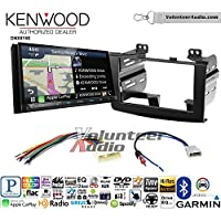 Volunteer Audio Kenwood DNX874S Double Din Radio Install Kit with GPS Navigation Apple CarPlay Android Auto Fits 2008-2010 Nissan Rogue