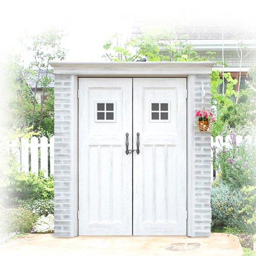 ガーデン収納 物置 ディーズシェッド カンナ フレンチシック D125サイズ イメージ:シャビーホワイト B073XXWJ3N