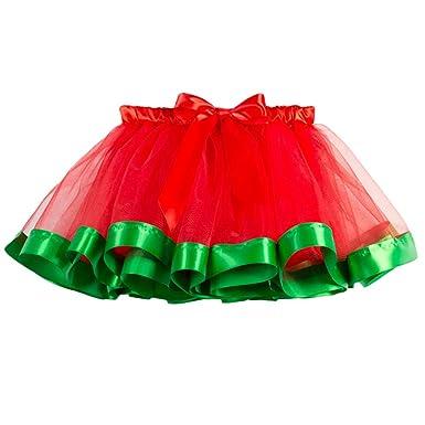 Xmiral Disfraz para Niñas Falda Tutú con Cinta de Bowknot Carnaval para Fiesta Baile Danza Estampado Lunares(Verde,M/ES 4-7 años): Amazon.es: Ropa y ...