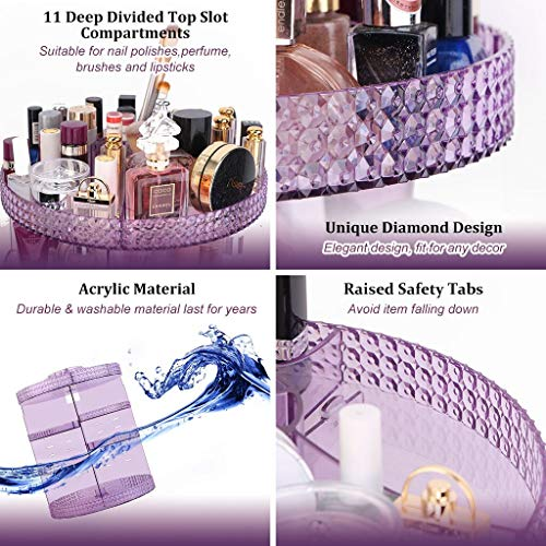 Awenia Makeup Organizer 360-Degree Rotating, Adjustable Makeup Storage, 7 Layers Large Capacity Cosmetic Storage Unit… 4
